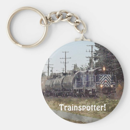 Freight Train Engineer Drivers Key-Chains Basic Round Button Key Ring