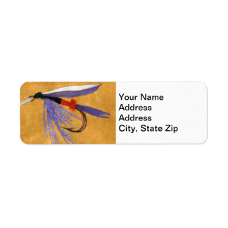 """Freight Train"" Trout Fly Return Address Label"