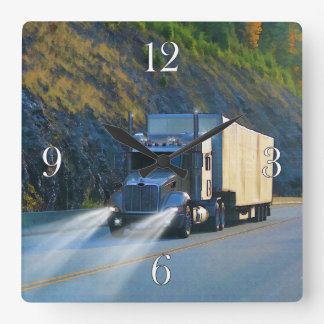 Freight Truck Lorry-Drivers Wall Clock