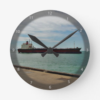 Freighter ship sailing on sea wallclocks