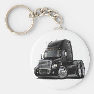 Freightliner Cascadia Black Truck Basic Round Button Key Ring