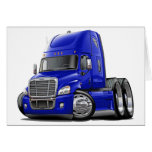 Freightliner Cascadia Blue Truck Greeting Card