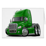 Freightliner Cascadia Green Truck Greeting Cards