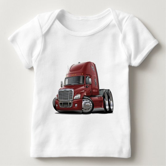 Freightliner Cascadia Maroon Truck Baby T-Shirt
