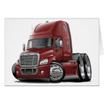 Freightliner Cascadia Maroon Truck Cards