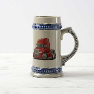 Freightliner Cascadia Red Truck Beer Steins