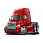 Freightliner Cascadia Red Truck Postcards