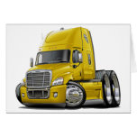 Freightliner Cascadia Yellow Truck Greeting Cards