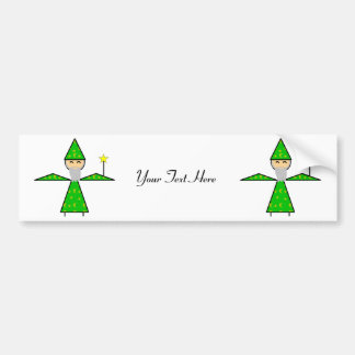 Freindly Green Stick Wizard Car Bumper Sticker
