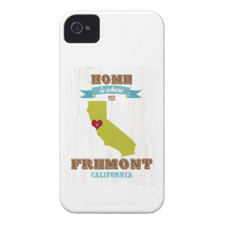 Fremont, California Map – Home Is Where iPhone 4 Cases