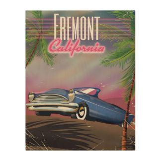 Fremont California travel poster Wood Prints