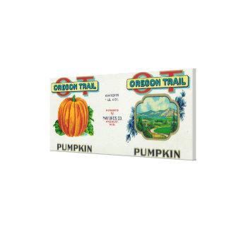 Fremont, NebraskaTrail Pumpkin Can Label Canvas Print