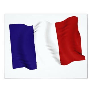 french 11 cm x 14 cm invitation card