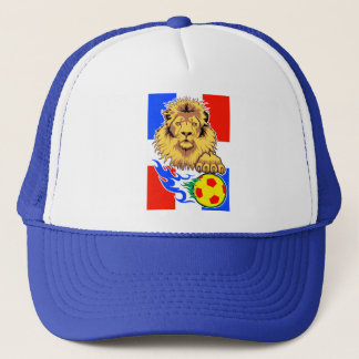 French African Soccer Lion Cap