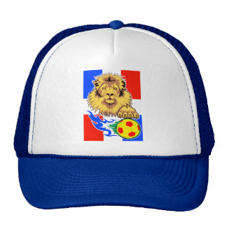 French African Soccer Lion Trucker Hat