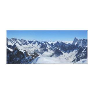 French Alps Chamonix Panorama Canvas Print