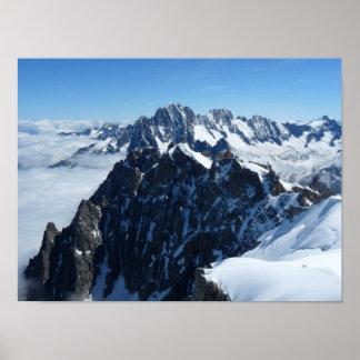 French Alps Chamonix Poster