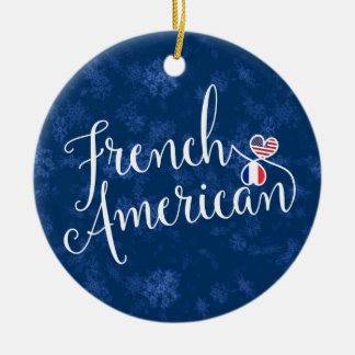 French American Christmas Tree Ornament, France Christmas Ornament