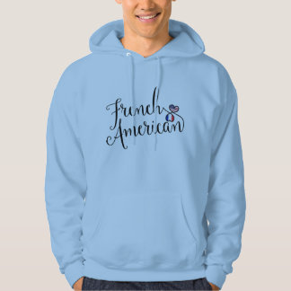 French American Entwinted Hearts Hoodie