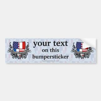 French-American Shield Flag Bumper Sticker