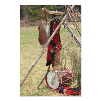 French and Indian War Drum and Uniform Art Photo