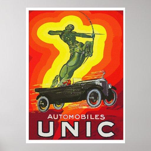 French antique car ad art deco print