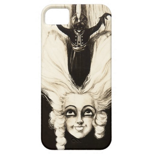 French Aristocrat Wig Hair Vintage Marionette iPhone 5 Cases