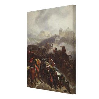 French Army Crossing the Sierra de Guadarrama Canvas Print