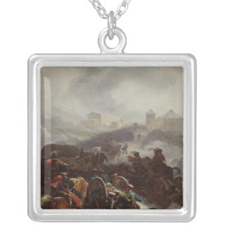 French Army Crossing the Sierra de Guadarrama Silver Plated Necklace