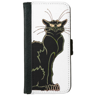 French Art Nouveau Black Cat - Wallet Case