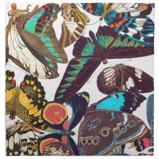 French Art Nouveau Butterflies Cloth Napkins
