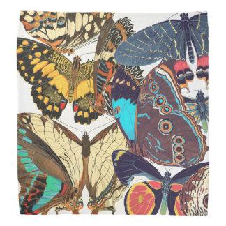 French Art Nouveau Butterflies Papillon Bandana