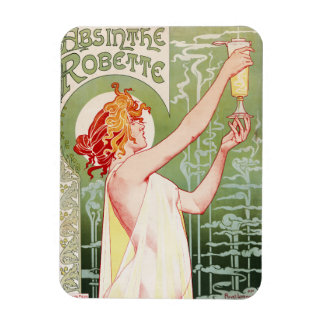 "French art nouveau poster ""absinthe Robette"" Rectangular Photo Magnet"