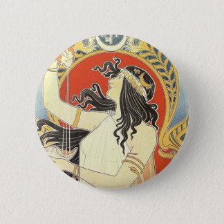 French Art Nouveau Publicity Poster 6 Cm Round Badge