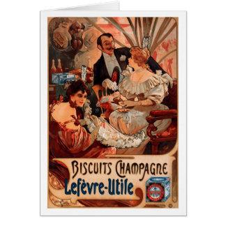 French Art Nouveau Publicity Poster Card