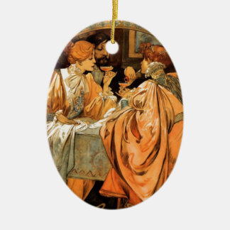 French Art Nouveau Publicity Poster Christmas Ornament