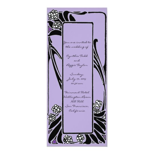 French Art Nouveau Stylised Flower Frame Card