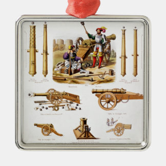French artillery christmas ornament