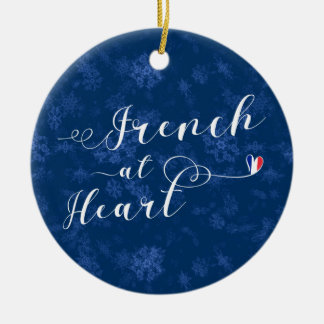 French At Heart, Christmas Tree Ornament, France Christmas Ornament