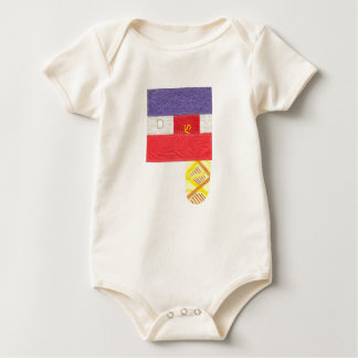 French Baguette Organic Babygro Baby Bodysuit