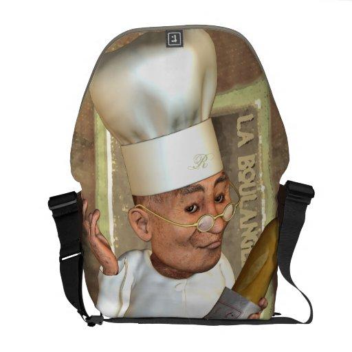 French Bakery Rickshaw Messenger Bag