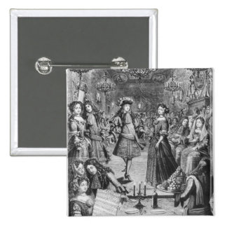 French Ball, Royal Almanac 15 Cm Square Badge