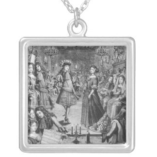 French Ball, Royal Almanac Silver Plated Necklace