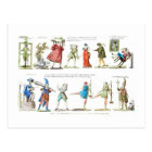 French Ballet Characters Vintage Postcard