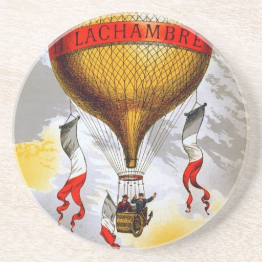 French Balloon Drink Coaster
