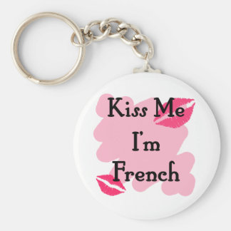 French Basic Round Button Key Ring