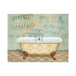 French Bathtub and the Leaning Tower of Pisa Canvas Print