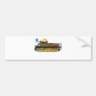 FRENCH BATTLE TANK BUMPER STICKERS