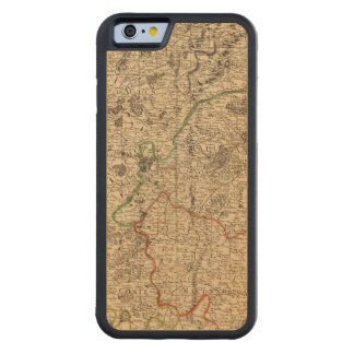 French battlefields and roads maple iPhone 6 bumper case