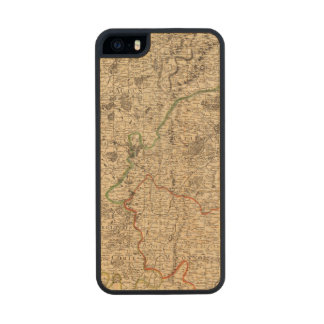 French battlefields and roads wood iPhone SE/5/5s case